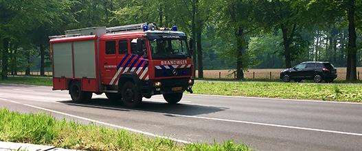 Brandweer veilig rijden