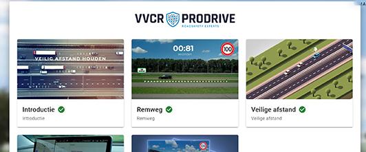 VVCR Online training dashboard
